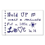 Love Addict Sticker (Rectangle 10 pk)