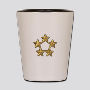 5 star General rank Shot Glass