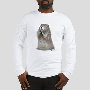 emerging groundhog Long Sleeve T-Shirt