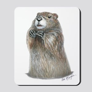 emerging groundhog Mousepad