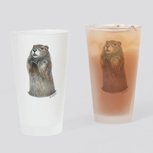 emerging groundhog Drinking Glass