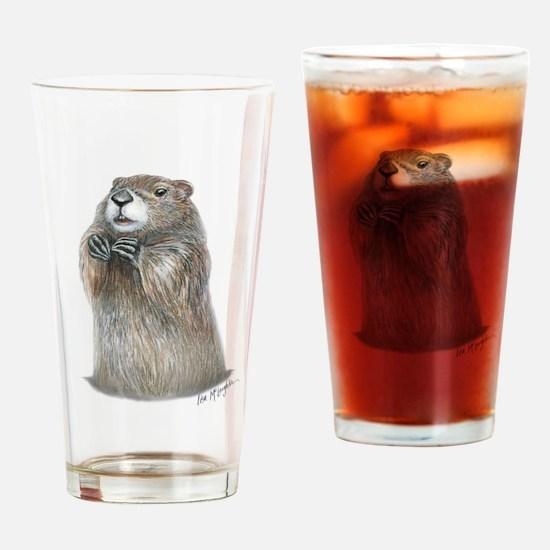 emerging groundhog Drinking Glass