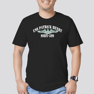 USS PATRICK HENRY Men's Fitted T-Shirt (dark)