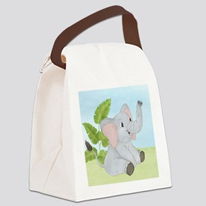 Baby Elephant Canvas Lunch Bag
