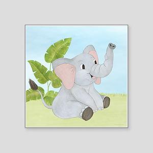 "Baby Elephant Square Sticker 3"" x 3"""