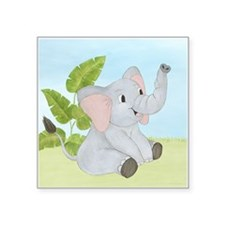 Baby Elephant Square Sticker 3