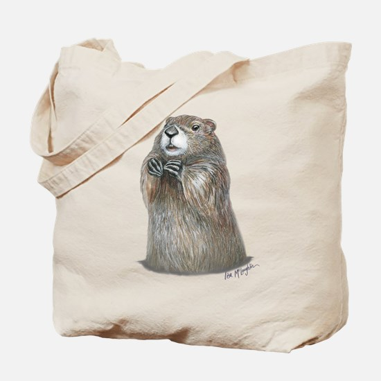 Emerging Groundhog Tote Bag