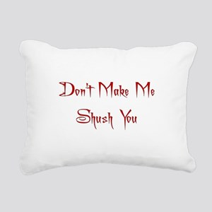 shush Rectangular Canvas Pillow