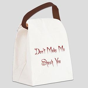 shush Canvas Lunch Bag