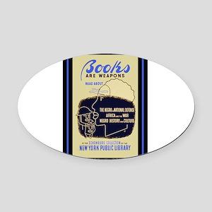 wpa9 Oval Car Magnet