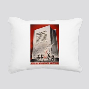 booksweapons Rectangular Canvas Pillow