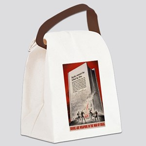 booksweapons Canvas Lunch Bag