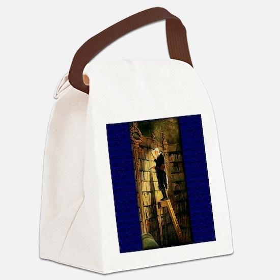 bookworm.jpg Canvas Lunch Bag