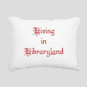 libraryland2 Rectangular Canvas Pillow