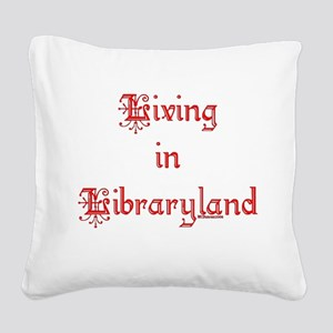 libraryland2 Square Canvas Pillow