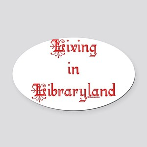 libraryland2 Oval Car Magnet