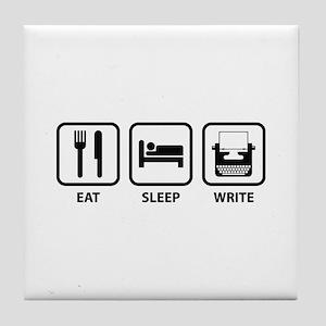 Eat Sleep Write Tile Coaster