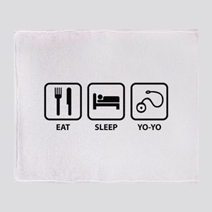 Eat Sleep Yo-Yo Throw Blanket