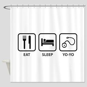 Eat Sleep Yo-Yo Shower Curtain