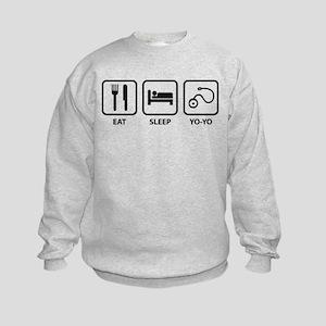 Eat Sleep Yo-Yo Kids Sweatshirt