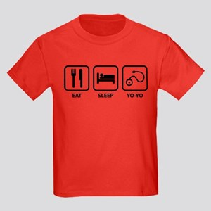Eat Sleep Yo-Yo Kids Dark T-Shirt