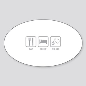 Eat Sleep Yo-Yo Sticker (Oval)