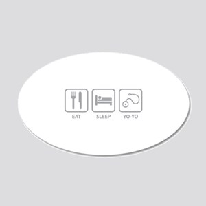 Eat Sleep Yo-Yo 22x14 Oval Wall Peel