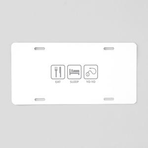 Eat Sleep Yo-Yo Aluminum License Plate