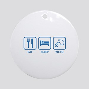 Eat Sleep Yo-Yo Ornament (Round)