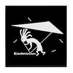 Kokopelli Hang Glider Tile Coaster