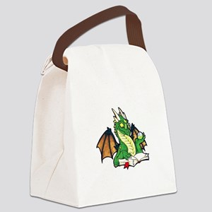 Green Bookdragon Canvas Lunch Bag
