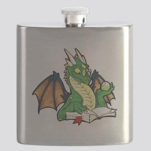Green Bookdragon Flask
