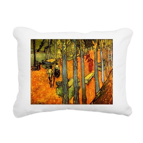 Alyscamps_van_gogh.png Rectangular Canvas Pillow