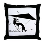 Kokopelli Hang Glider Throw Pillow