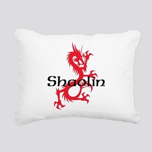 Shaolin Red Dragon Tee Rectangular Canvas Pillow