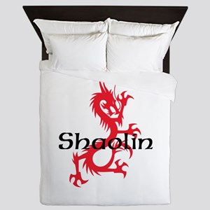 Shaolin Red Dragon Tee Queen Duvet