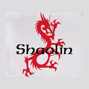 Shaolin Red Dragon Tee Throw Blanket