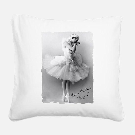 AnnaPavlova_Cygne.png Square Canvas Pillow