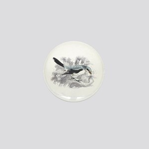 Great Cinereous Shrike Bird Mini Button