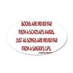 chineseproverb2.png Oval Car Magnet