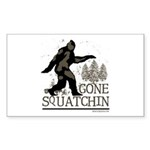Sasquatch Gone Squatchin Sticker (Rectangle 50 pk)