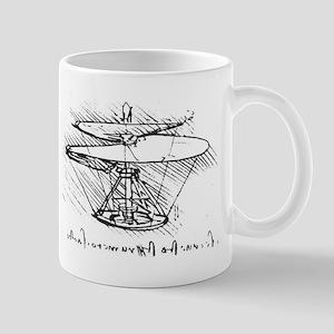 2 sided Da Vinci Aerial Screw Mug