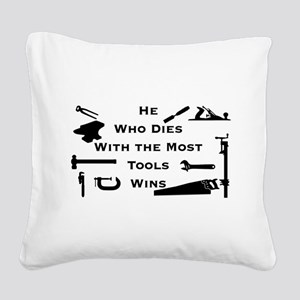 Most Tools Square Canvas Pillow