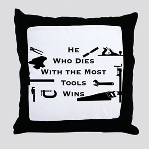 Most Tools Throw Pillow