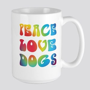 Peace Love Dogs Tiedye Large Mug