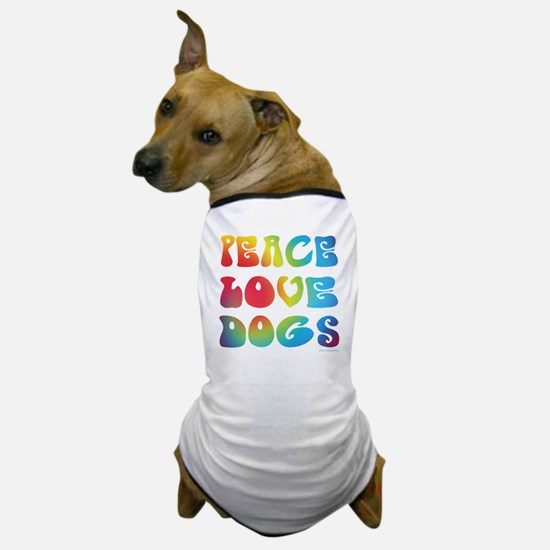 Peace Love Dogs Tiedye Dog T-Shirt