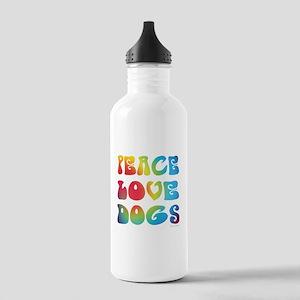 Peace Love Dogs Tiedye Stainless Water Bottle 1.0L