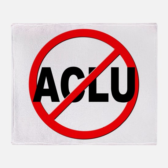 Anti / No ACLU Throw Blanket