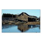 Barn Reflection Sticker (Rectangle 10 pk)