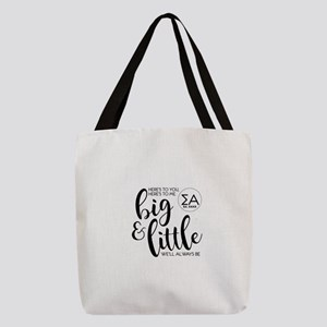 Sigma Alpha Big Little Personal Polyester Tote Bag